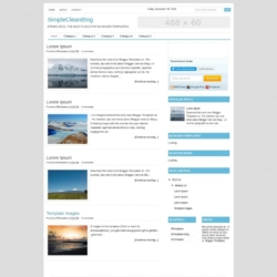 SimpleCleanBlog Blogger Template