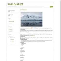 SimpleMarket Blogger Template