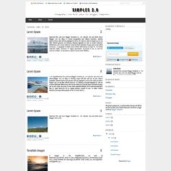 Simples 2.0 Blogger Template