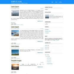 Simples Azul Blogger Template