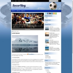 SoccerBlog Blogger Template
