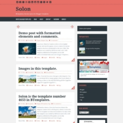 Solon Blogger Template