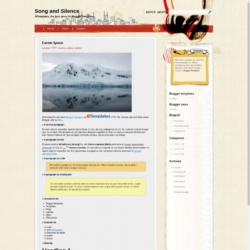 Song and Silence Blogger Template