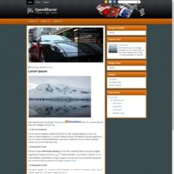 SpeedRacer Blogger Template
