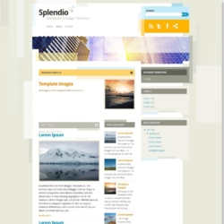 Splendio Blogger Template