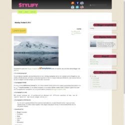 Stylify Blogger Template