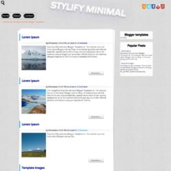 Stylify Minimal Blogger Template