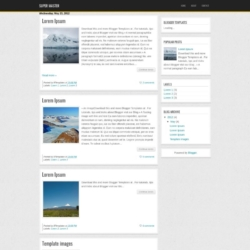 Super Master Blogger Template