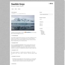 Swedish Greys Blogger Template