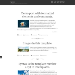 Syntax Blogger Template