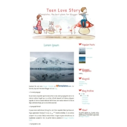Teen Love Story Blogger Template