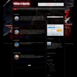 Tekken 6 Opacity Blogger Template