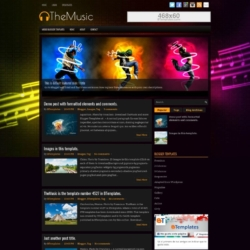 TheMusic Blogger Template