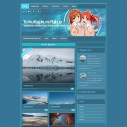 To Aru Kagaku no Railgun Blogger Template