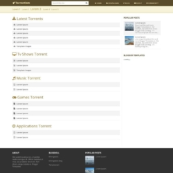 Torrentism Blogger Template