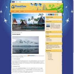 TravelZone Blogger Template