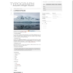 Typograph Blogger Template