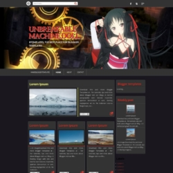 Unbreakable Machine Doll Blogger Template