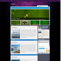 Urania Blogger Template