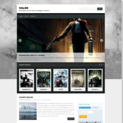 Valor Blogger Template