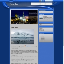 VectorBlue Blogger Template