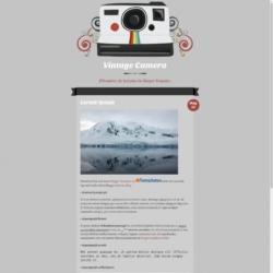 Vintage Camera Blogger Template