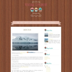 Vintage Cupcakery Blogger Template