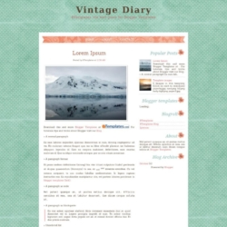 Vintage Diary Blogger Template
