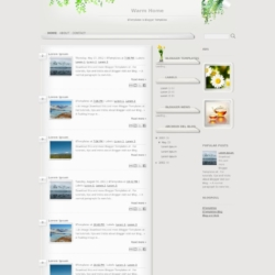 Warm Home Blogger Template