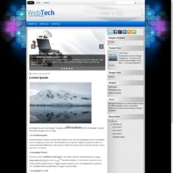 WebTech Blogger Template