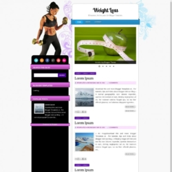 WeightLoss Blogger Template