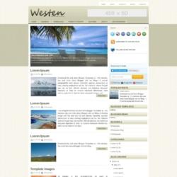Westen Blogger Template