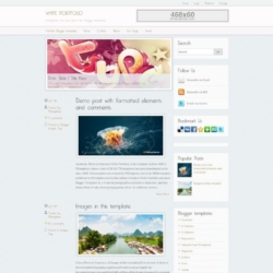 White Portfolio Blogger Template