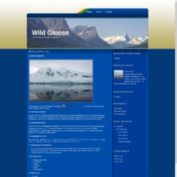 Wild Gloose Blogger Template