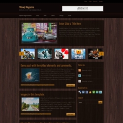Woody Magazine Blogger Template