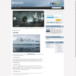 WorldSite Blogger Template