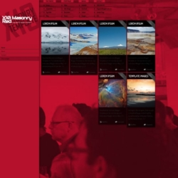 X10 Masonry Red Blogger Template