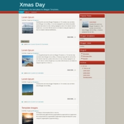Xmas Day Blogger Template