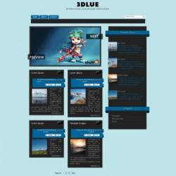 3Dlue Blogger Template