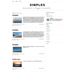 Simples Blogger Template