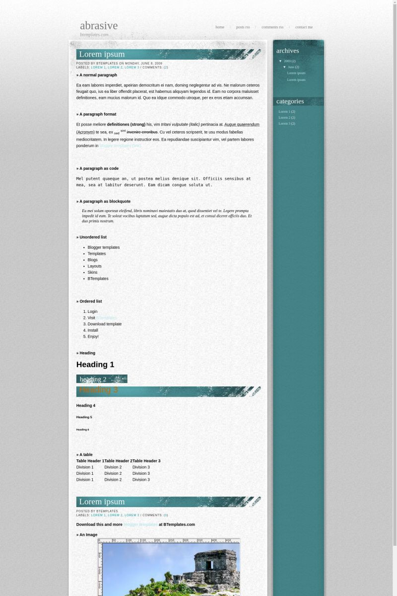 Download Abrasive Blogger Template
