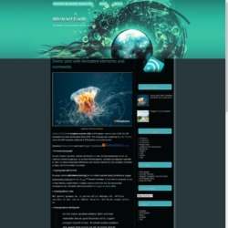 Abstract Earth Blogger Template