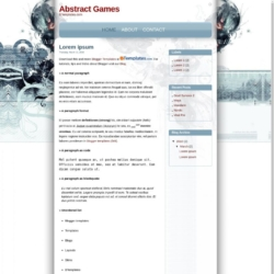 Abstract Games Blogger Template