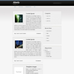 Abtely Blogger Template