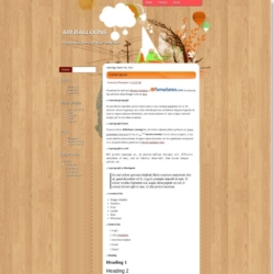 Air Balloons Blogger Template