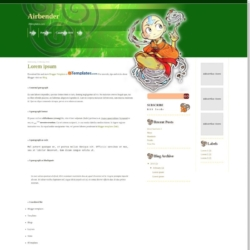 Airbender Blogger Template