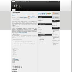 Alfina Blogger Template