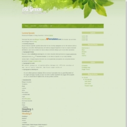 All Green Blogger Template