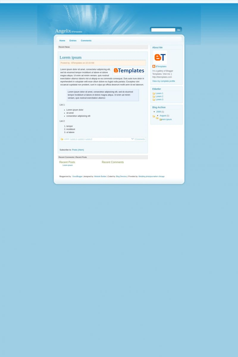 Download Angelix Blogger Template