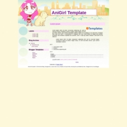 AniGirl Blogger Template